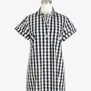 Black and White Gingham Shirt Dress